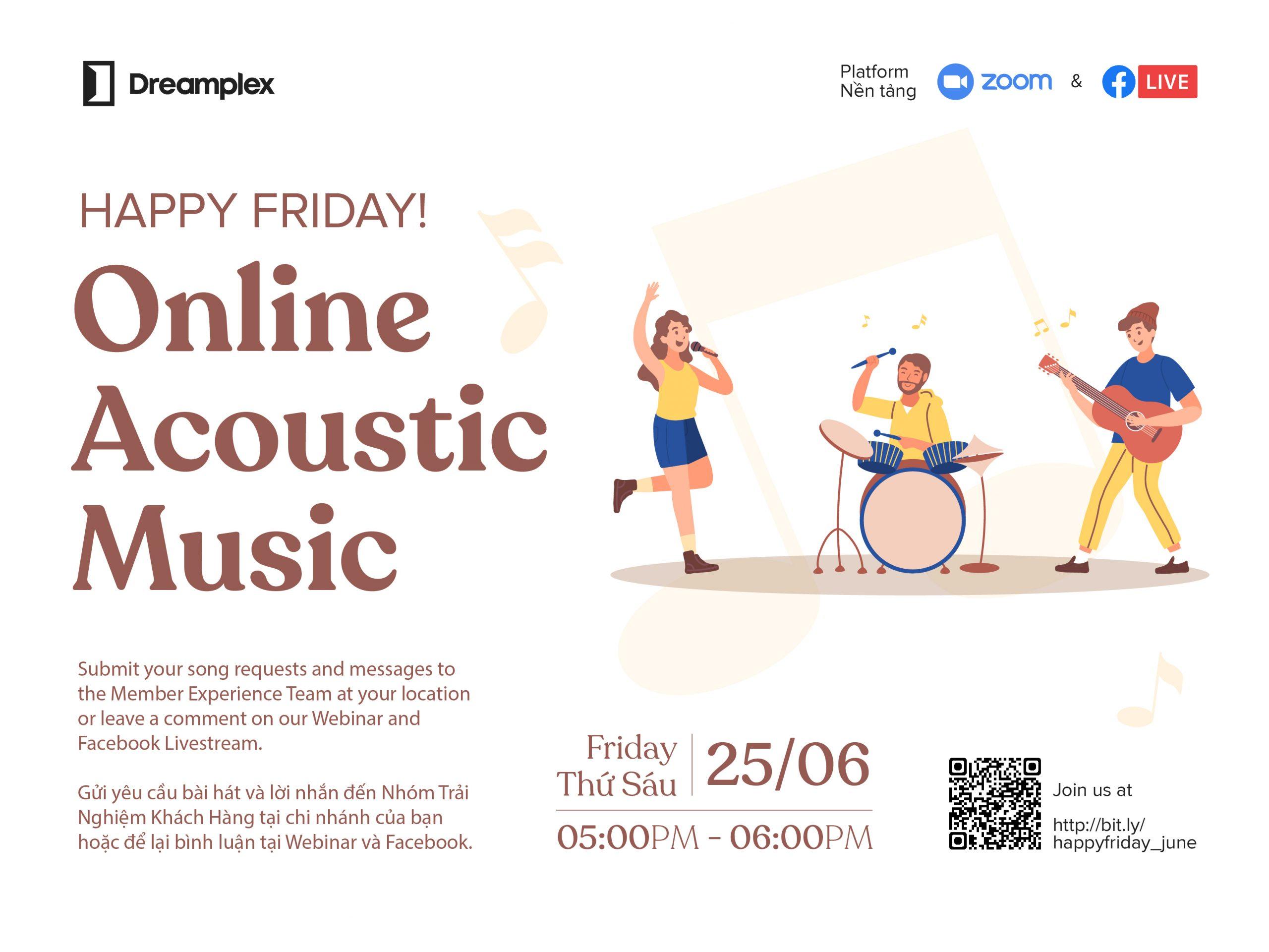 Online acoustic music