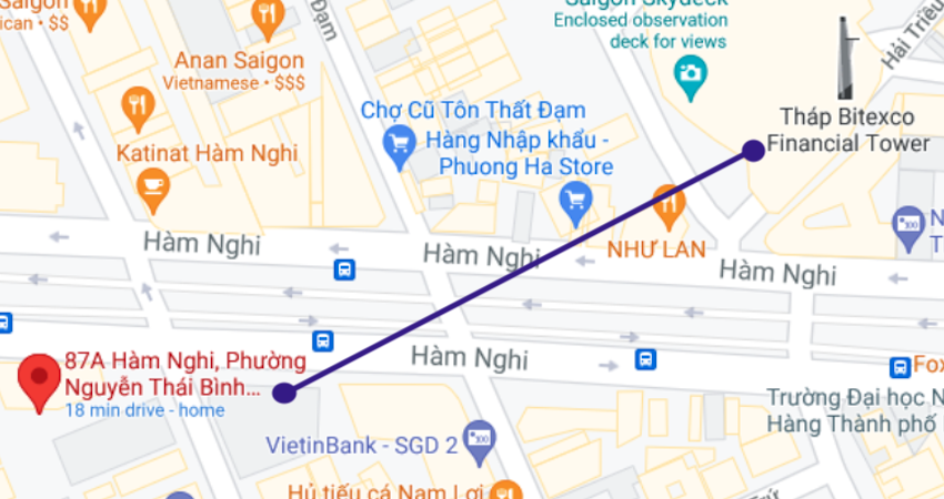 Private office at 87A Ham Nghi District 1